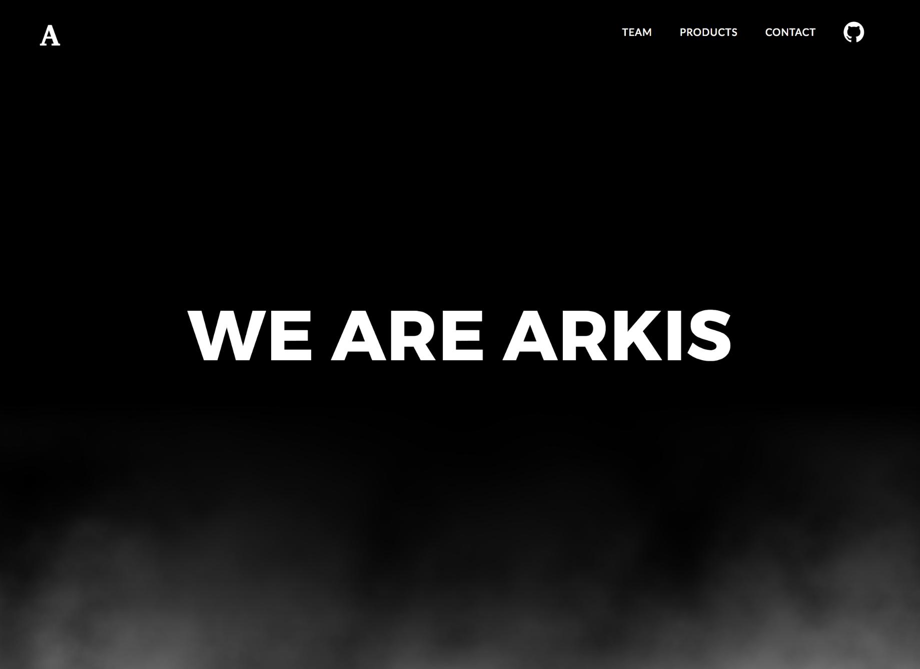 Arkis Landing Page