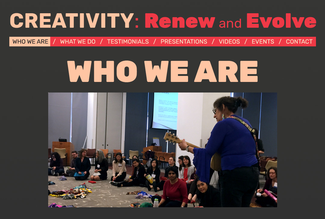 CREATIVITY: Renew and Evolve website