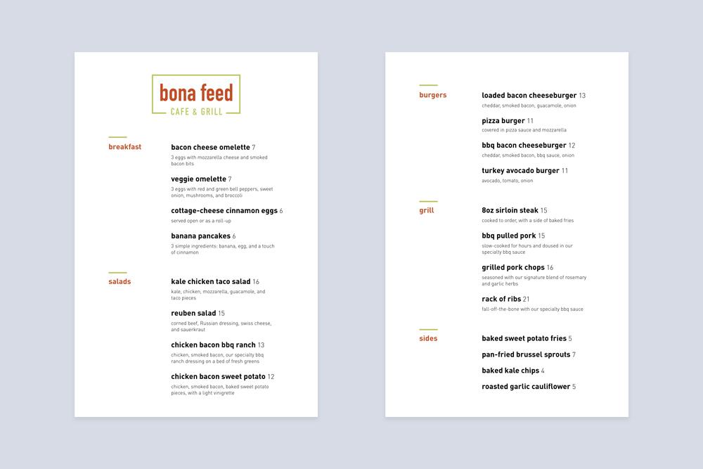 Bona Feed Branding