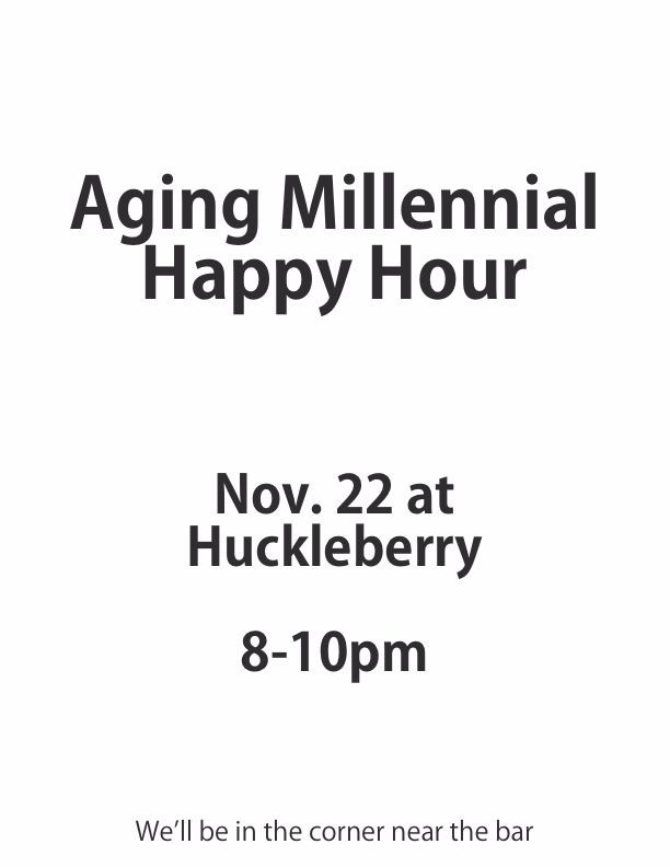 Aging Millennial Happy Hour