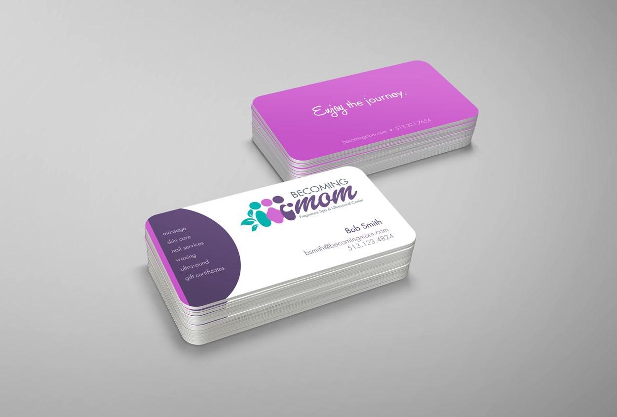 Pregnancy Spa Logo & Cards