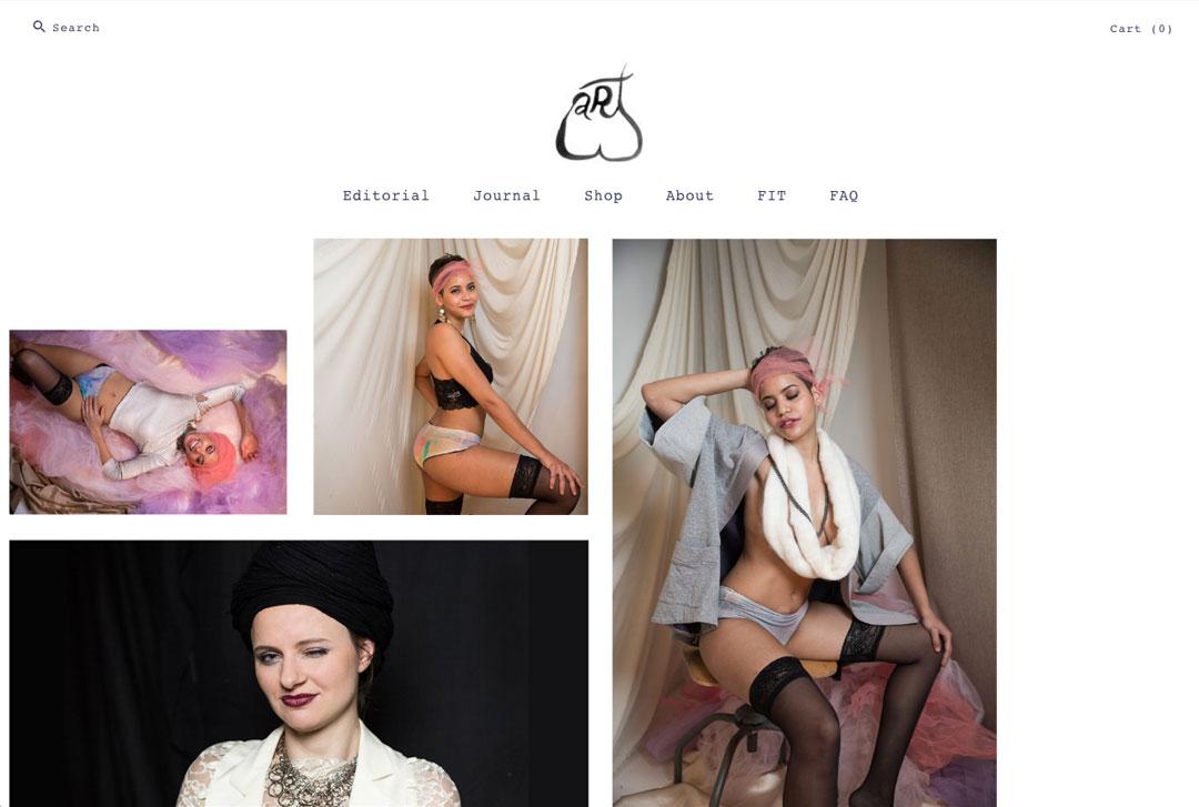 ARTbutt website