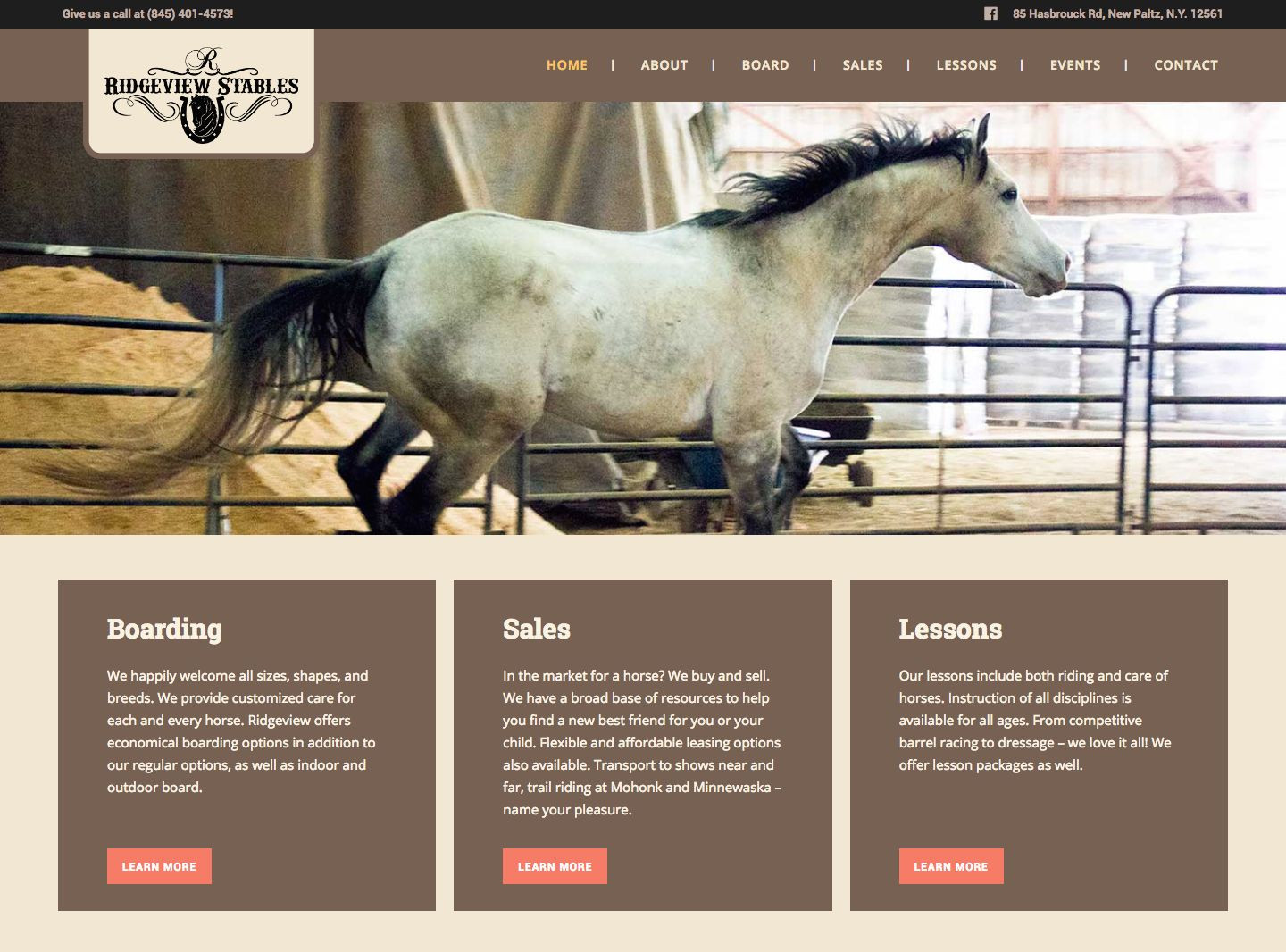Ridgeview Stables Website Redesign