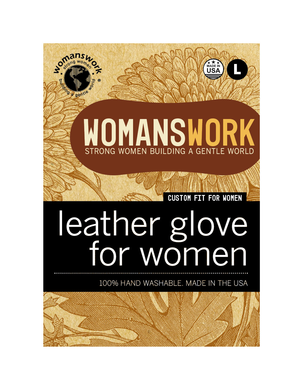 Design for Womanswork glove labels