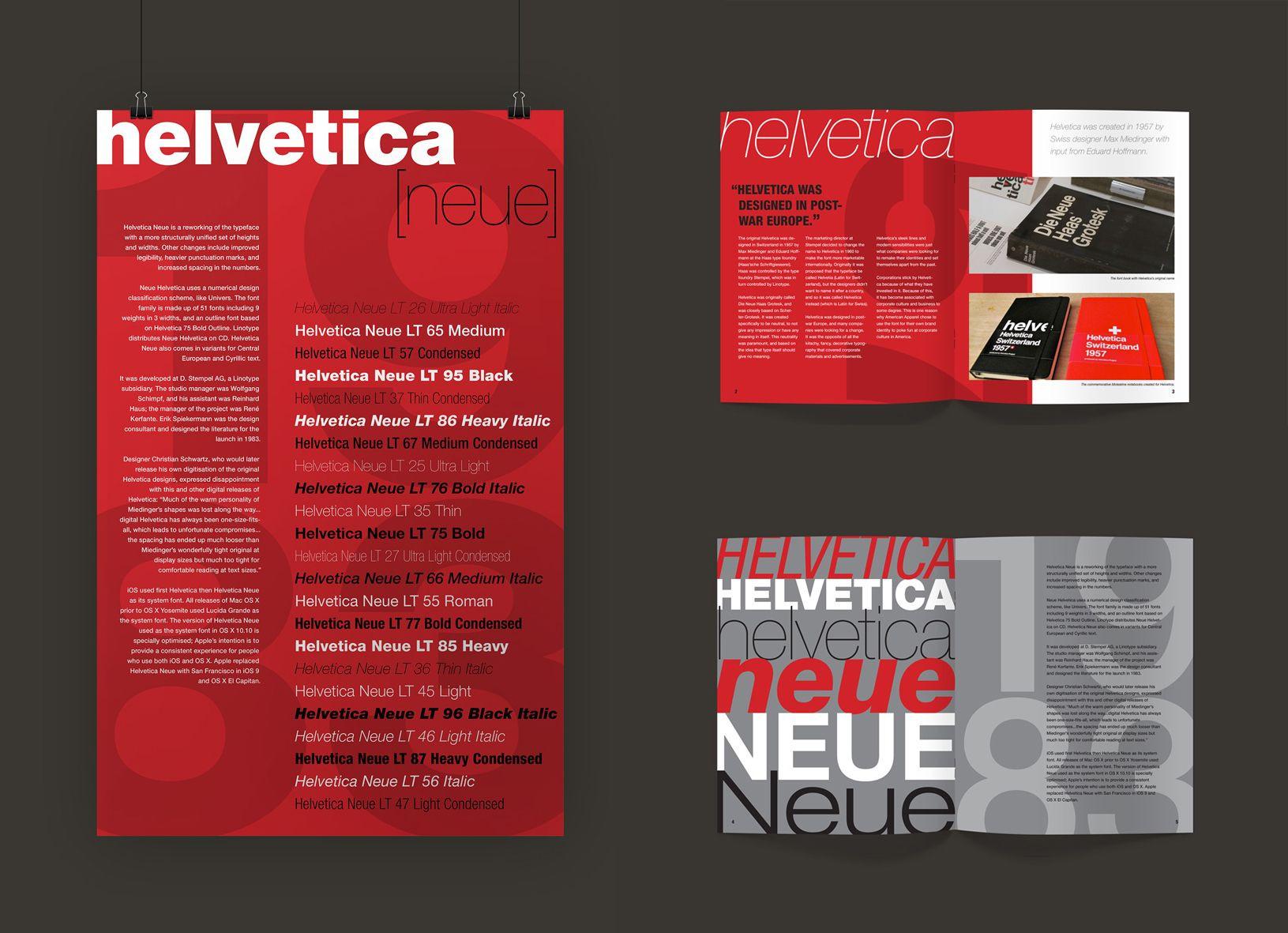 Helvetica Neue Brochure