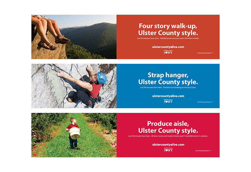 Ulster County Tourism subway ad campaign
