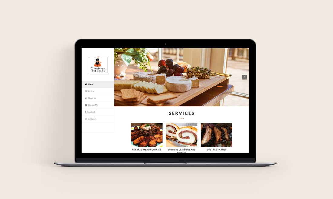 Concierge Home Cooking Website