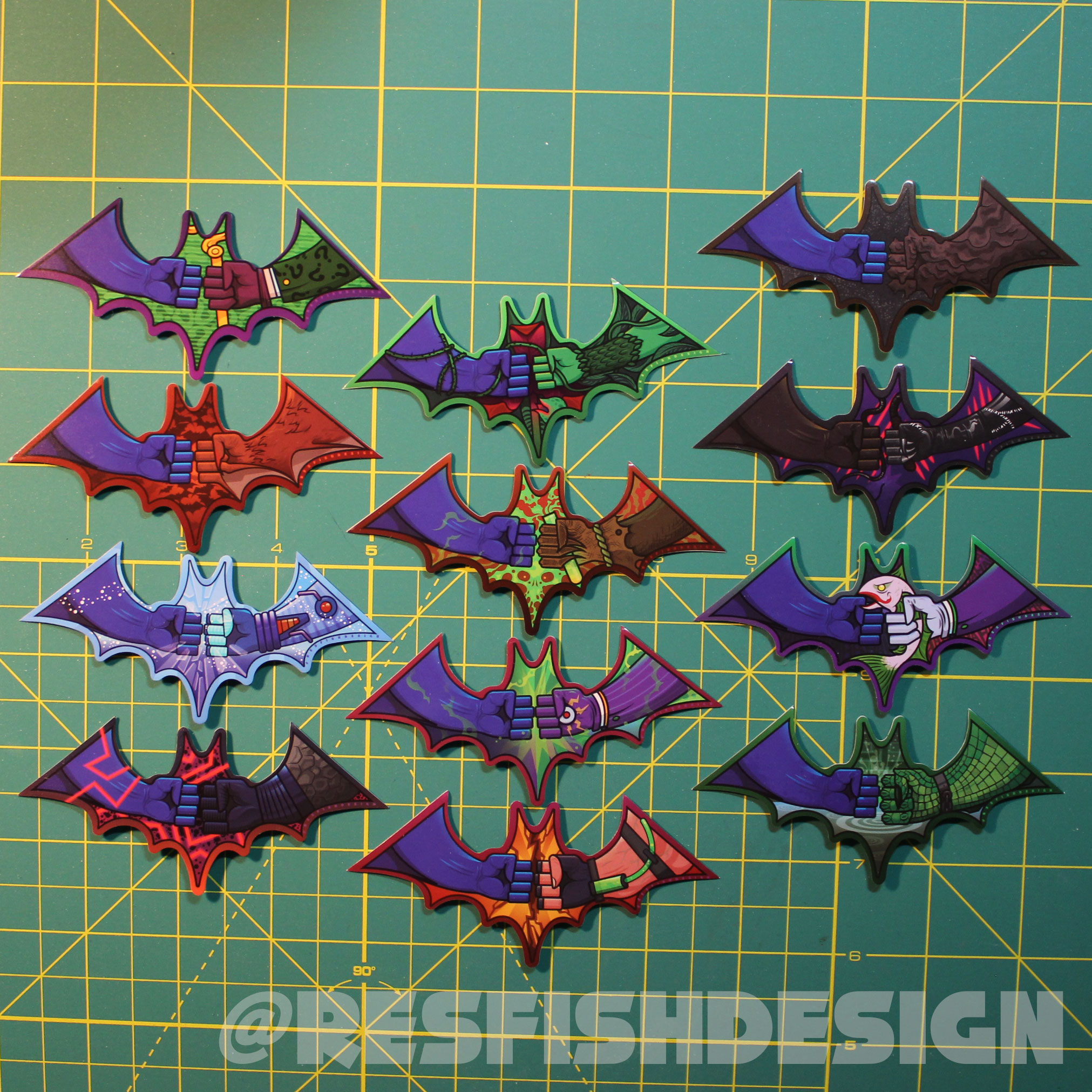 Bat-Hero Sticker set