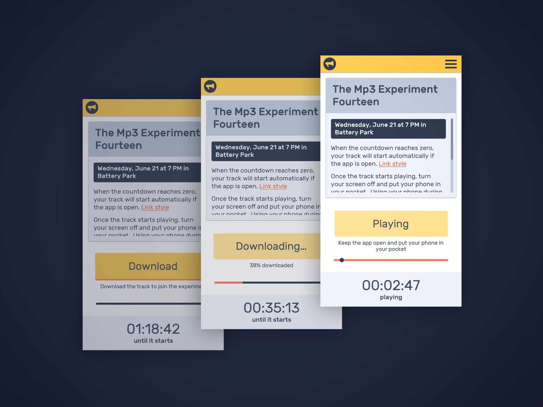 Mp3 Experiment App Design