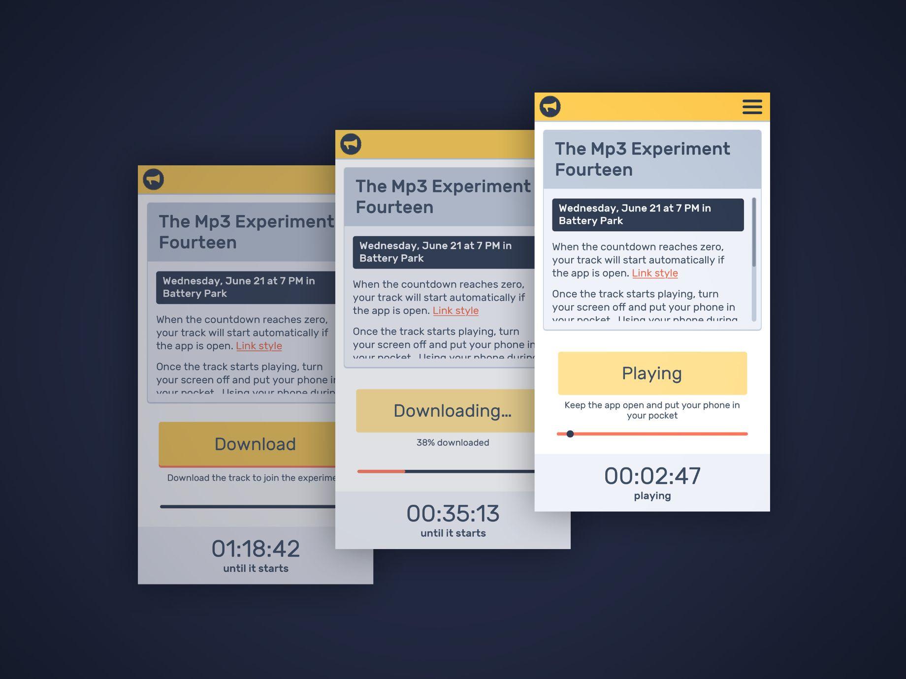 Mp3 Experiment App Design