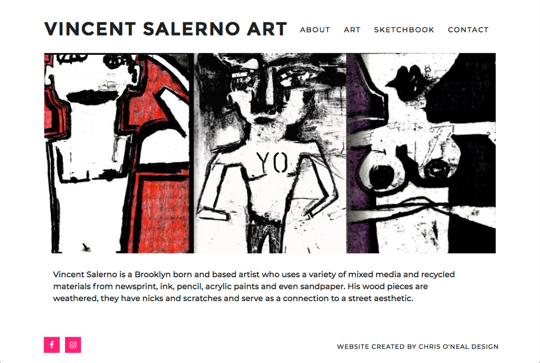 Vincent Salerno Art website