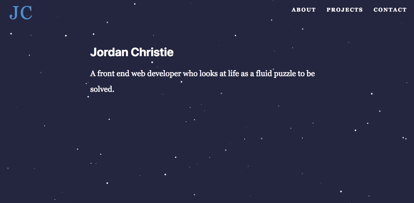 Jordan Christie | Front-End Developer