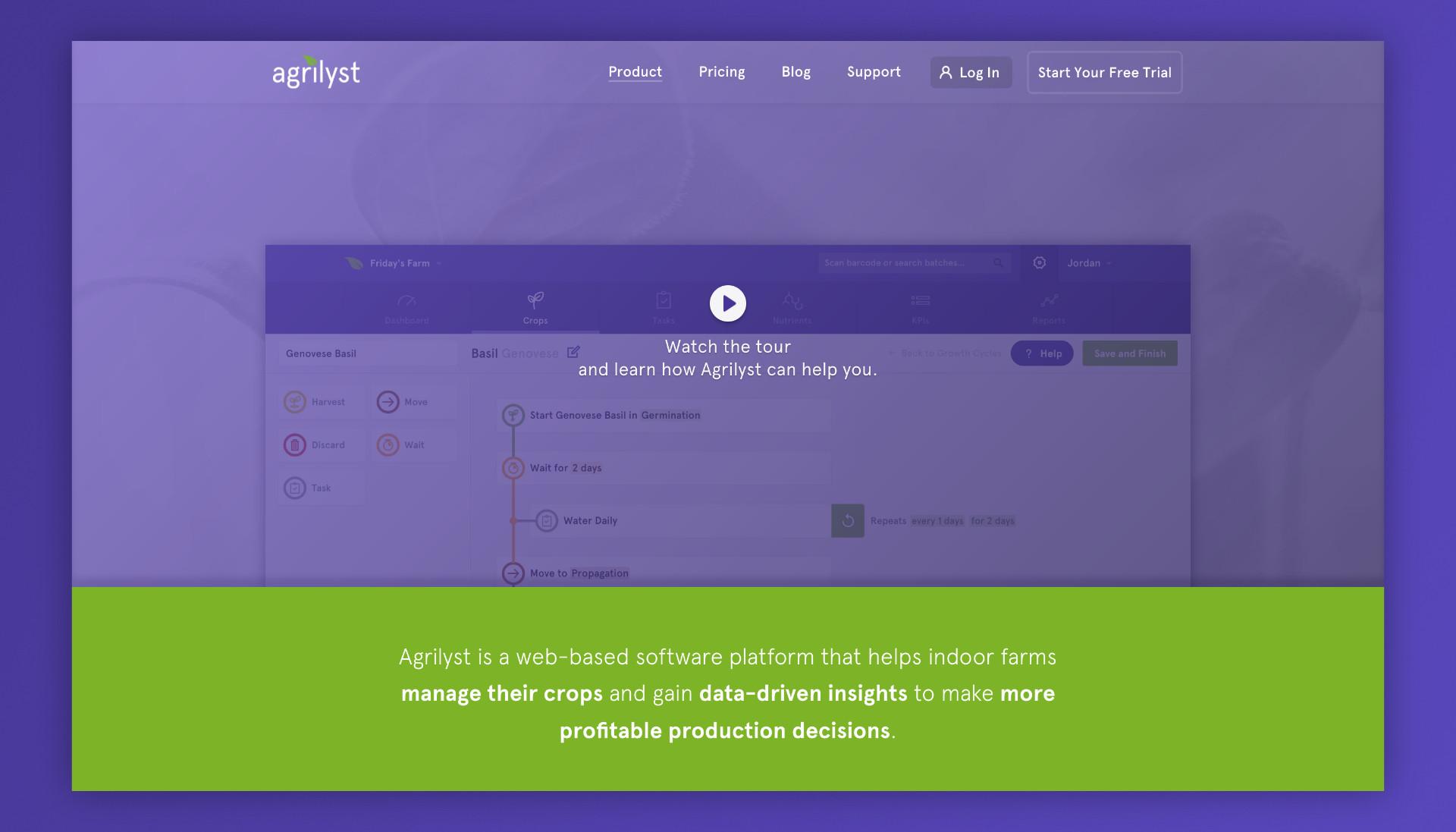 Agrilyst Website Redesign